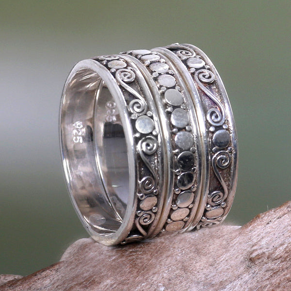 NOVICA - Sterling Silver Handmade Stacking Rings