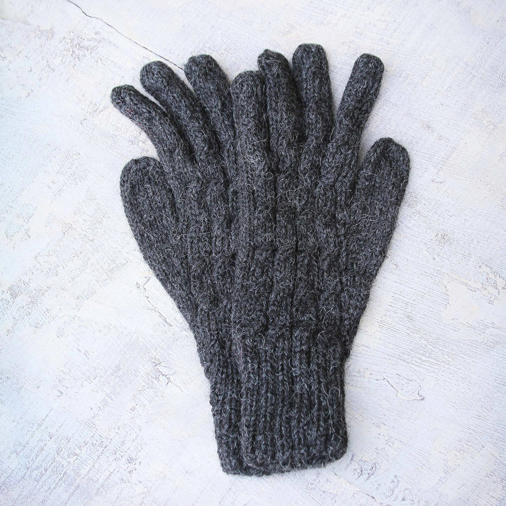 NOVICA - Lush Grey Alpaca Wool Gloves