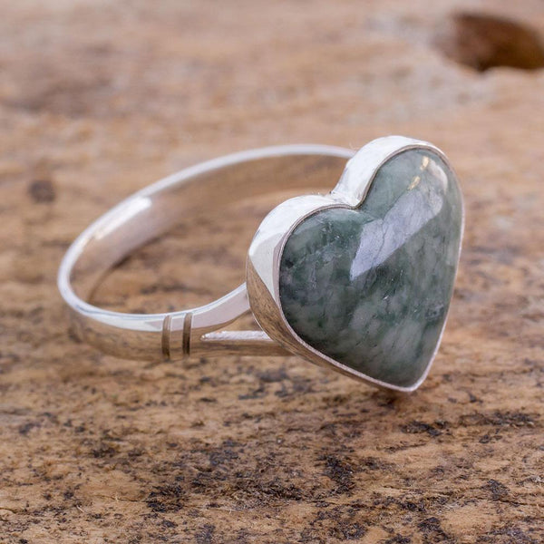 NOVICA - Handcrafted Jade & Sterling Silver Ring