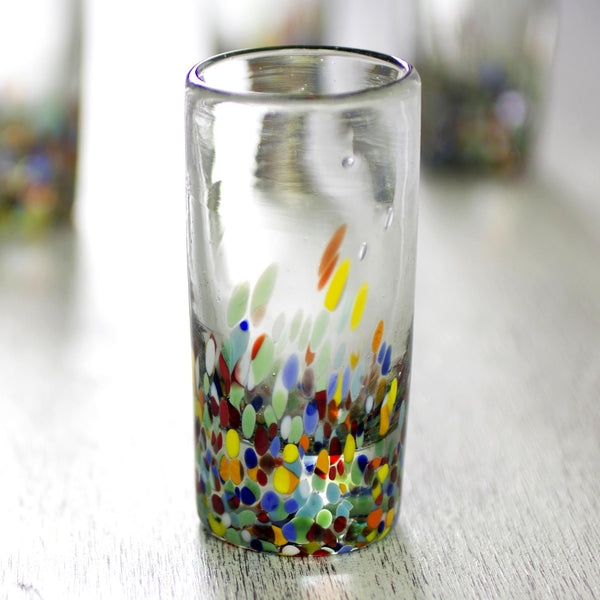 Colorful Confetti Hand-Blown Shot Glass - Set of 6