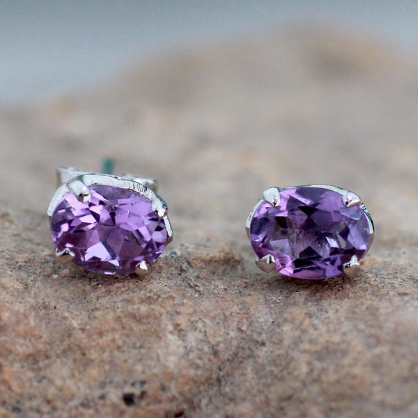 NOVICA - Handcrafted Amethyst & Sterling Silver Earrings