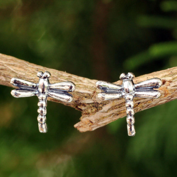 NOVICA - Baby Dragonfly Sterling Silver Stud Earrings