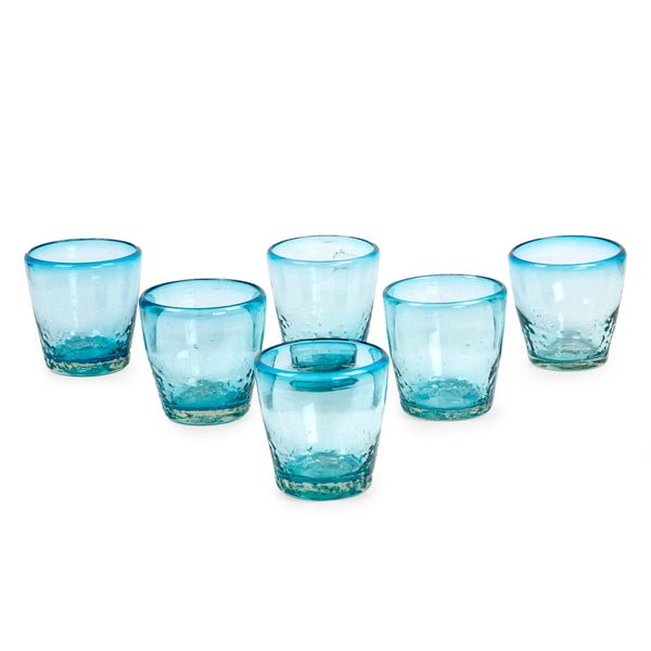 Delicious Blue Juice Glasses Set of 6