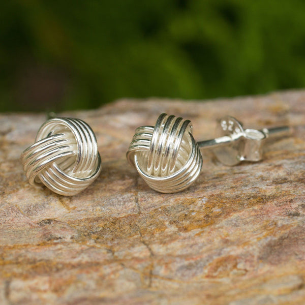 NOVICA - Sterling Silver Button Earrings