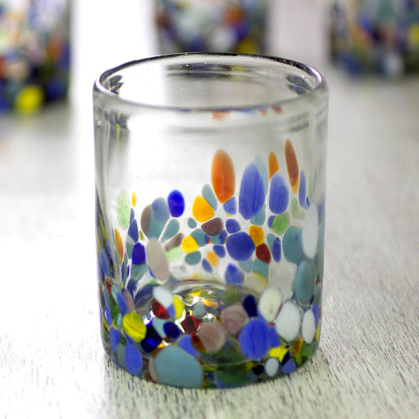 Confetti Festival Hand Blown Tumbler Glass Set