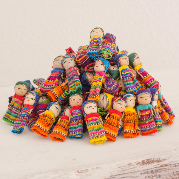 Traditional Handmade Worry Doll Collection