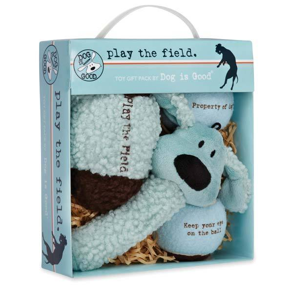 PetEdge - Play The Field 4-Piece Dog Toy Gift Pack