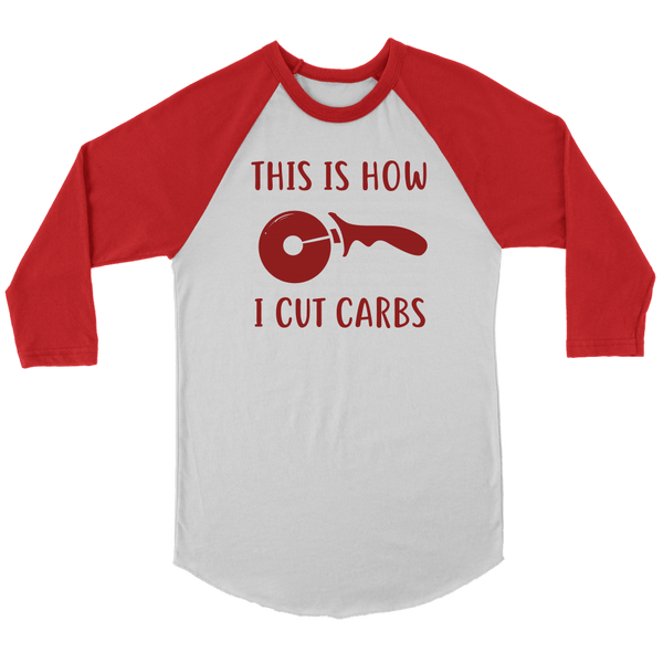 T-shirt - How I Cut Carbs Baseball Tee