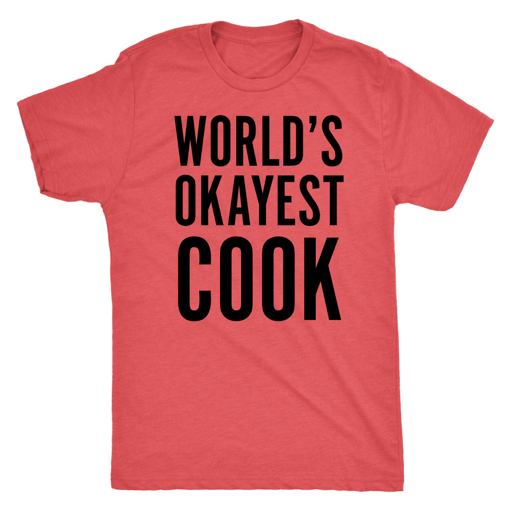 T-shirt - World's Okayest Cook Mens T-Shirt