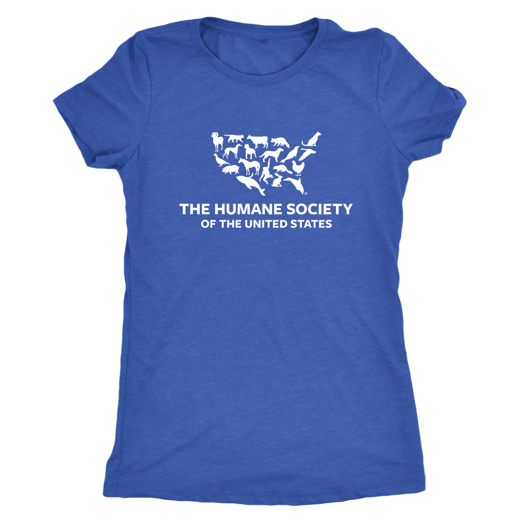 T-shirt - The Humane Society Womens Triblend Tee