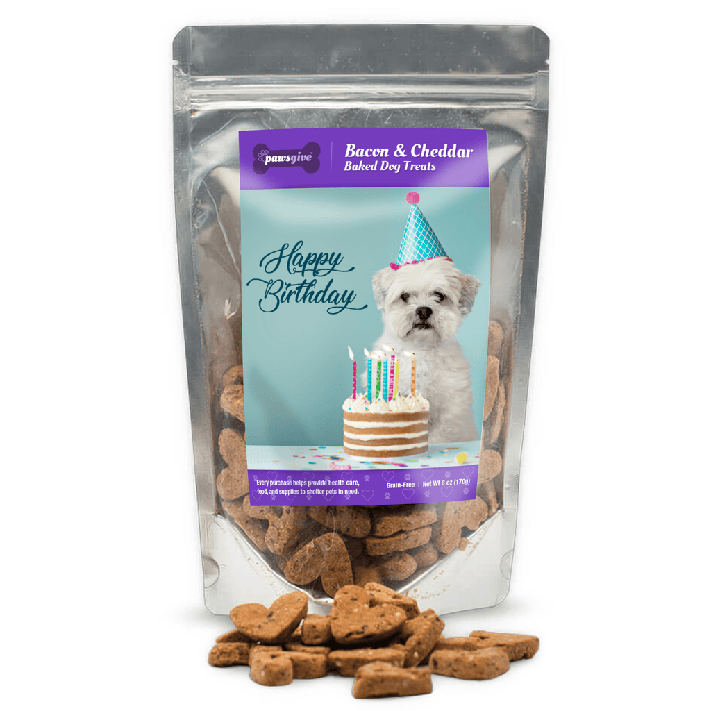 PawsGive - Birthday Bacon & Cheese Dog Treats