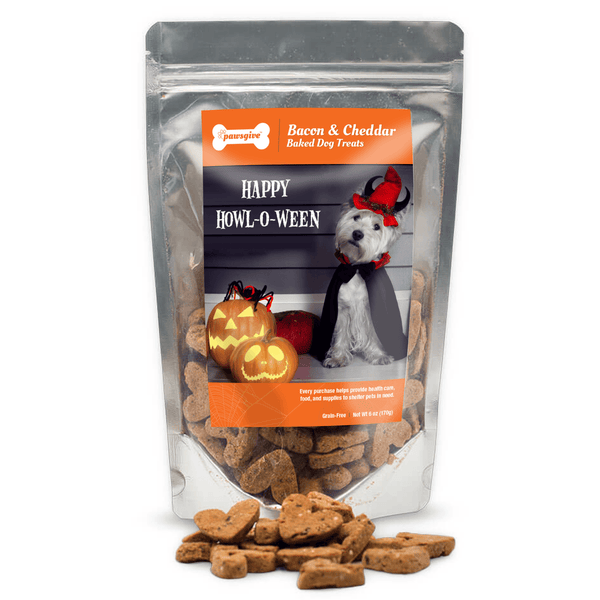 PawsGive - Howl For Halloween Bacon & Cheese Dog Treats