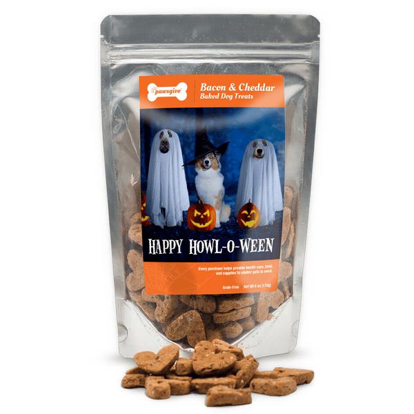 PawsGive - Happy Howl-O-Ween Bacon & Cheese Dog Treats