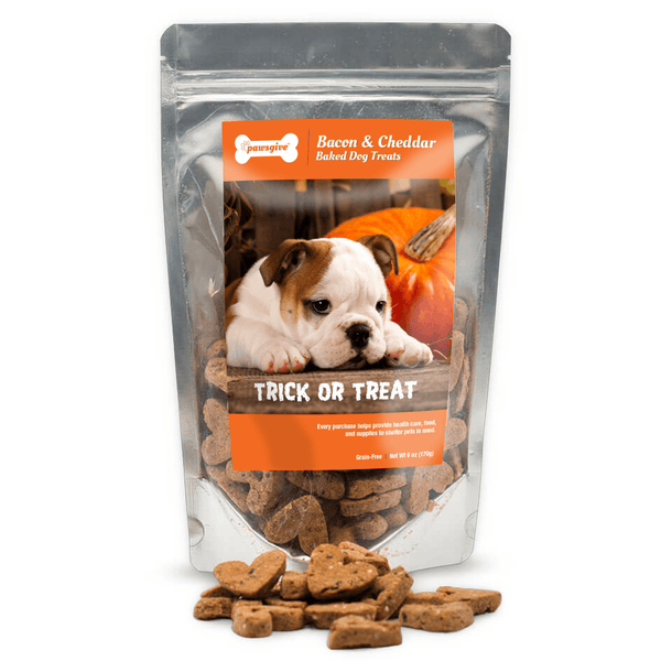PawsGive - Halloween Gluten Free Bacon & Cheese Crunchy Dog Treats