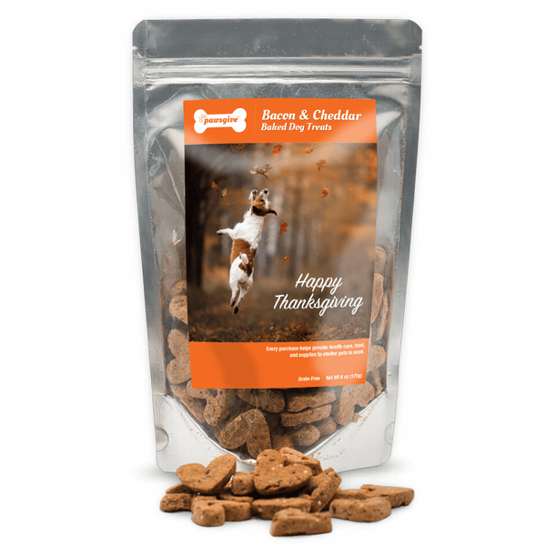 PawsGive - Crunchy Thanksgiving Bacon & Cheese Dog Treats