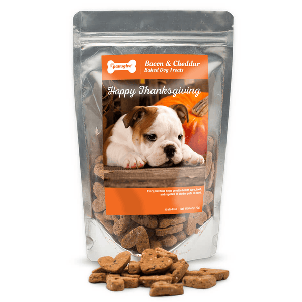PawsGive - Thanksgiving Bacon & Cheese Gluten Free Dog Treats