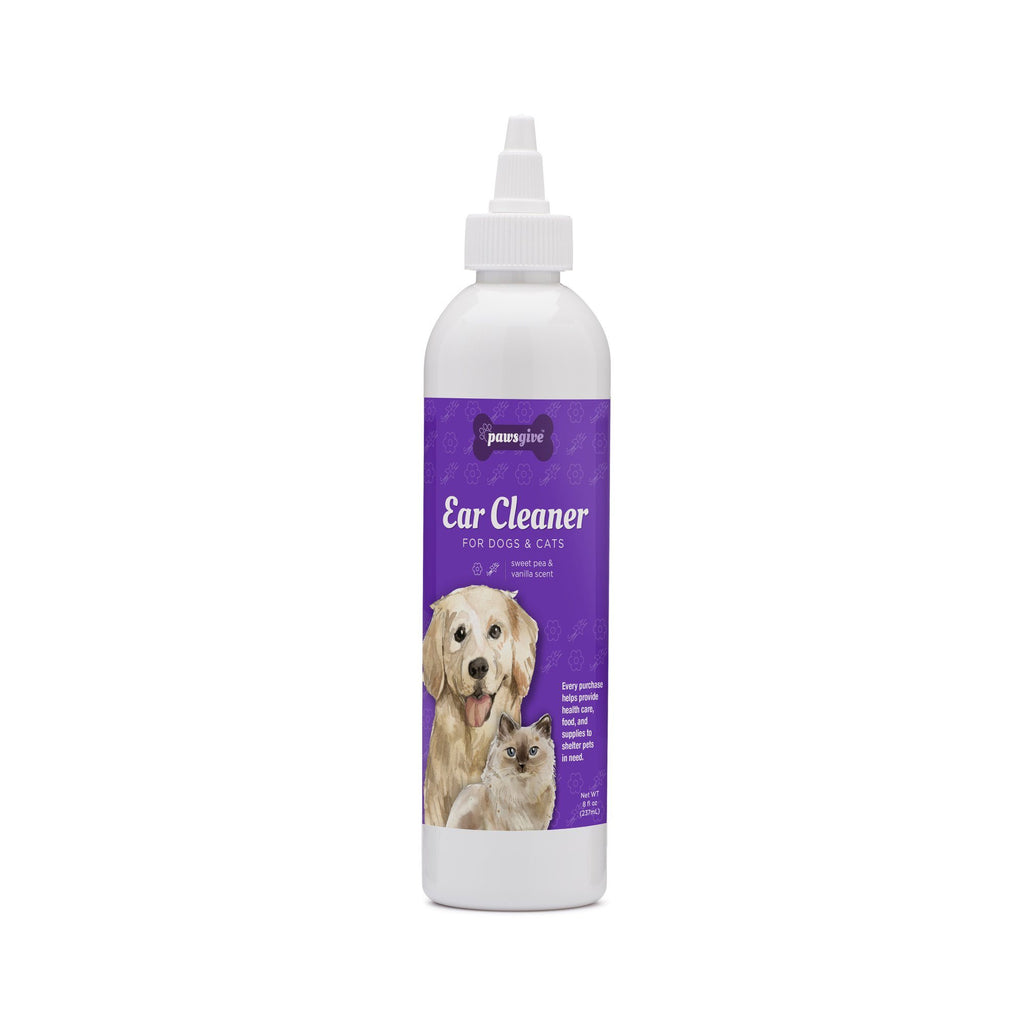 PawsGive - PawsGive Ear Cleaner For Dogs And Cats, Sweat Pea Vanilla - 8oz