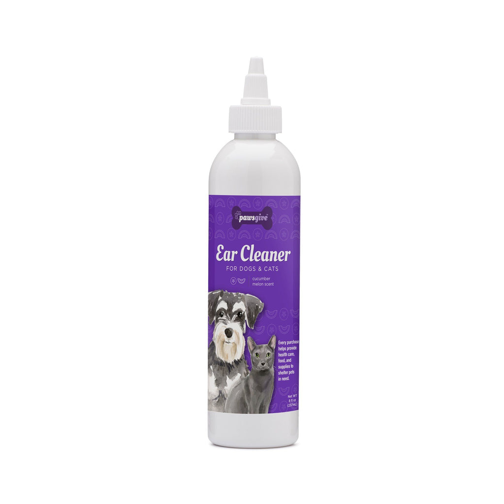 PawsGive - PawsGive Ear Cleaner For Dogs And Cats, Cucumber Melon - 8oz