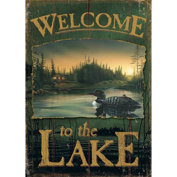 Toland Home Garden - Loon Lake Welcome Garden Flag