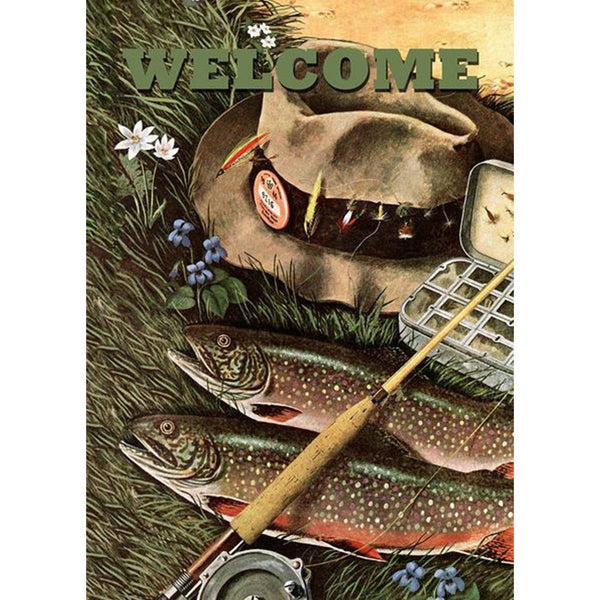 Toland Home Garden - Fly Fishing Welcome Garden Flag