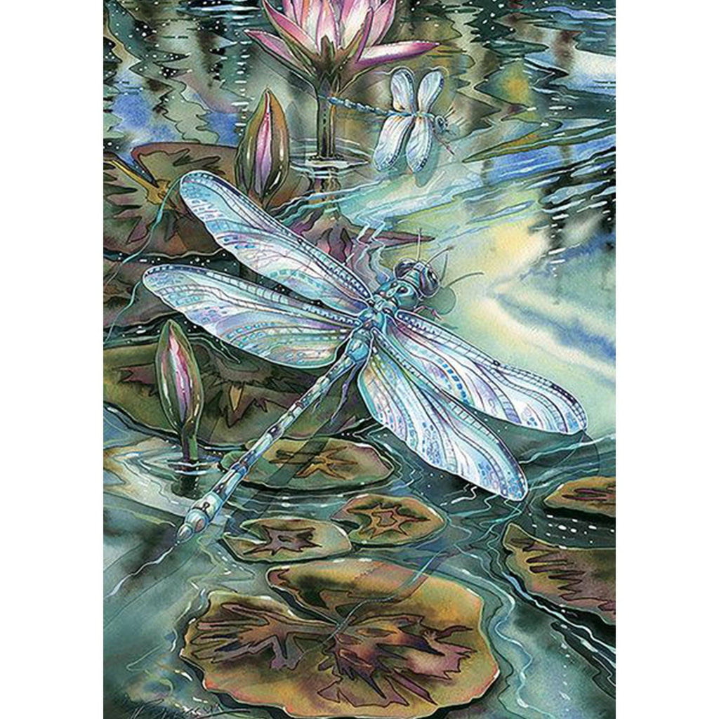 Toland Home Garden - Dragonfly And Pond Garden Flag