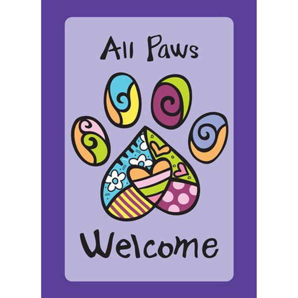 Toland Home Garden - All Paws Welcome Garden Flag