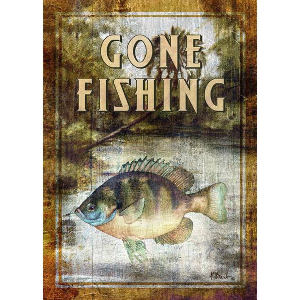 Toland Home Garden - Bluegill Fishing Garden Flag
