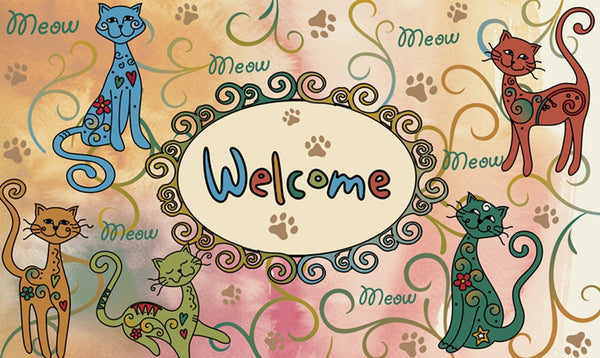 Toland Home Garden - Toland Meow Welcome Door Mat