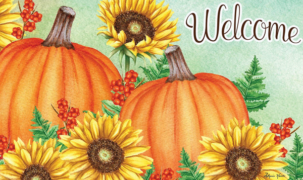 Toland Home Garden - Welcome Sunflowers & Pumpkins Door Mat