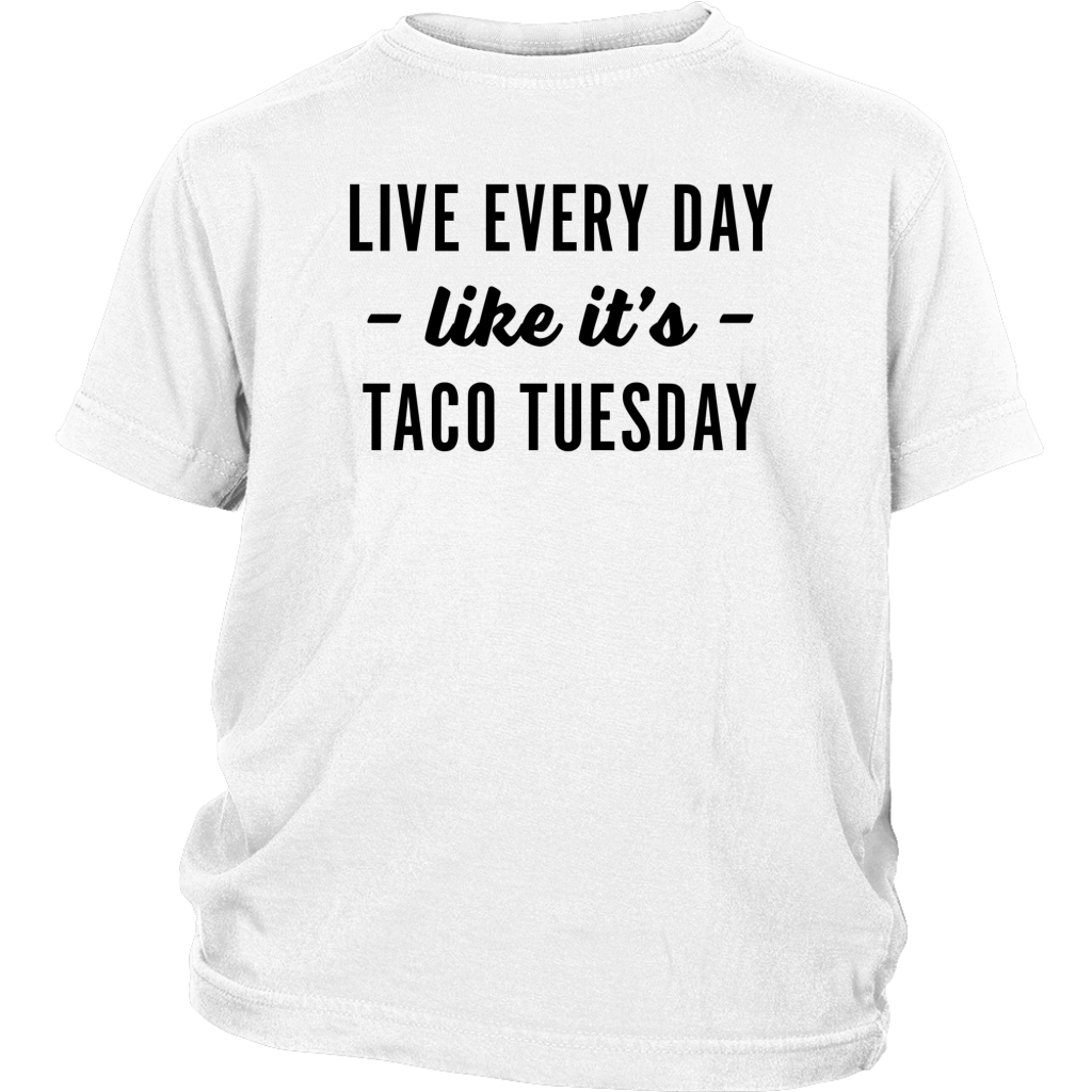 Taco Tuesday Youth T-Shirt Masswerks Store