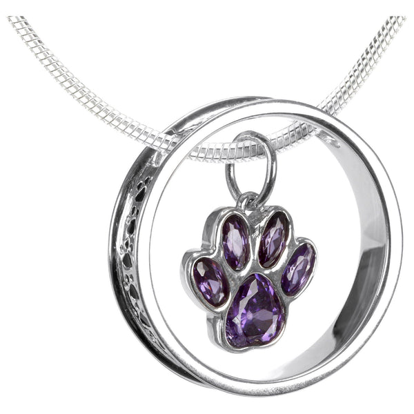 A Life Full Of Paws Sterling Necklace