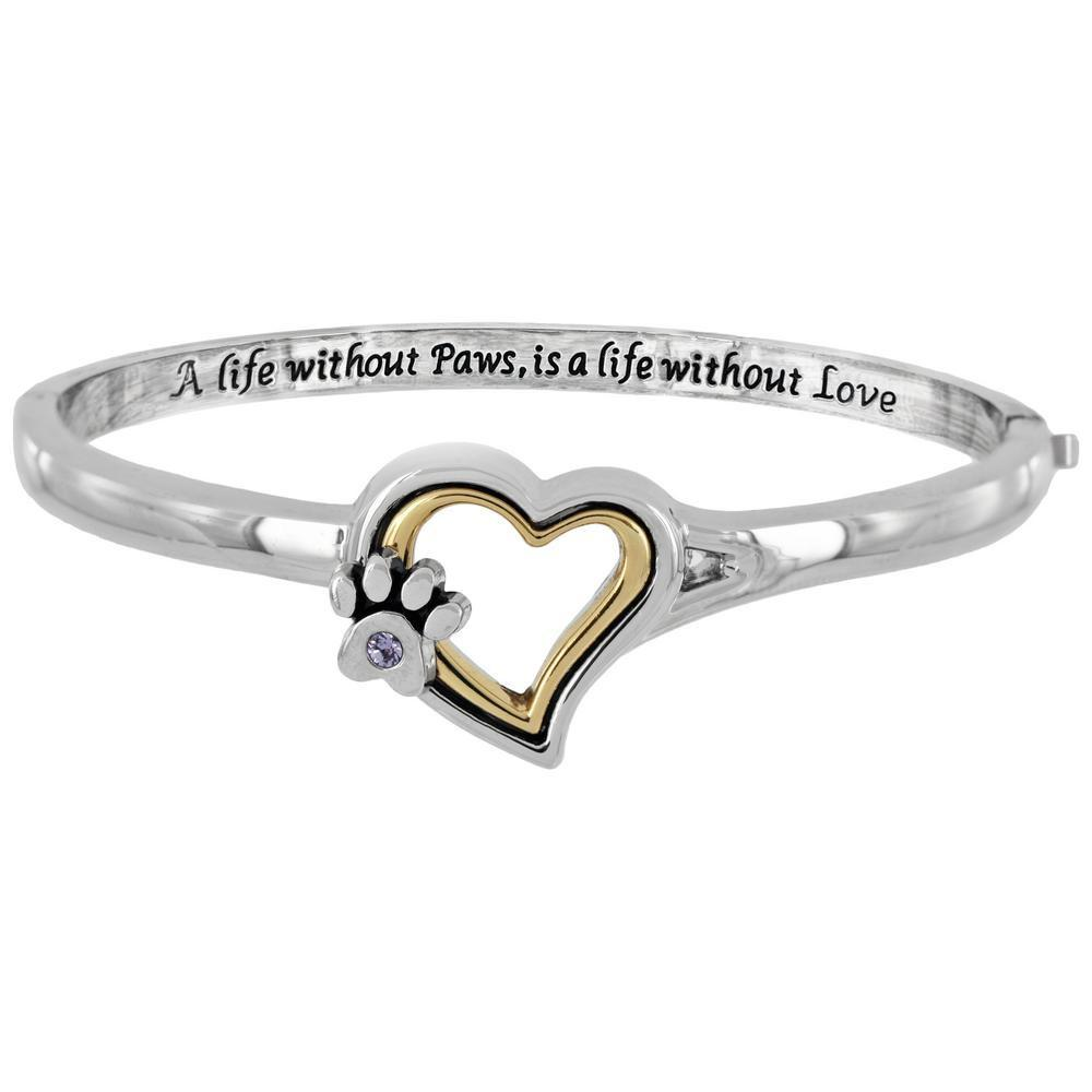 A Life Without Paws Heart Bracelet