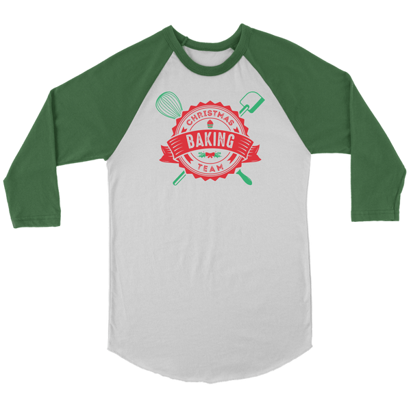 T-shirt - Christmas Baking Team Baseball Tee