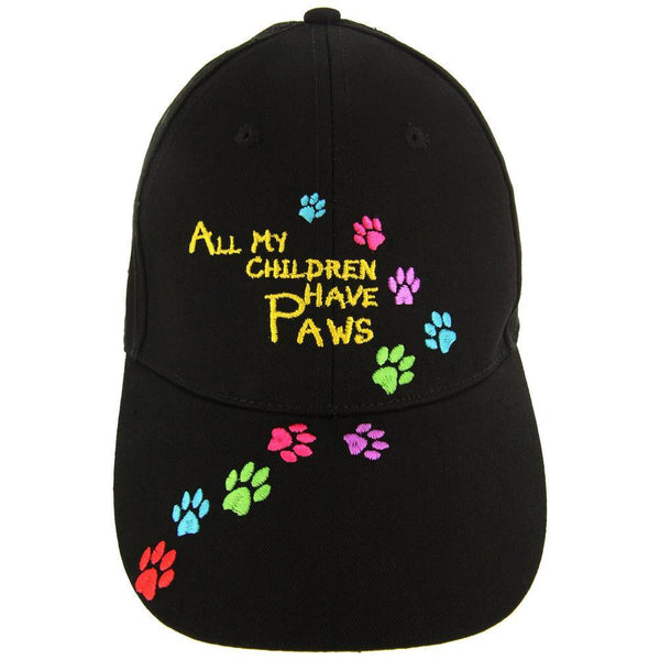All My Children Have Paws Embroidered Baseball Hat