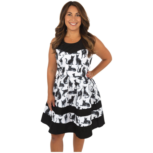 All Over Cats A-Line Dress