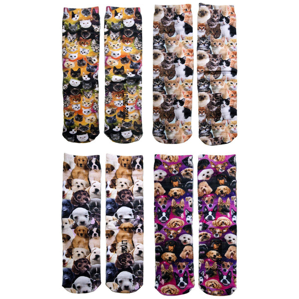 All Over Cats & Dogs Socks