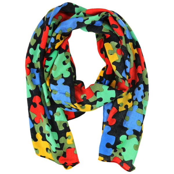 All Over Puzzle Twill Scarf