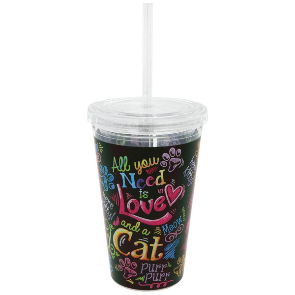 All You Need Is Love & A Cat Insulated Travel Cup