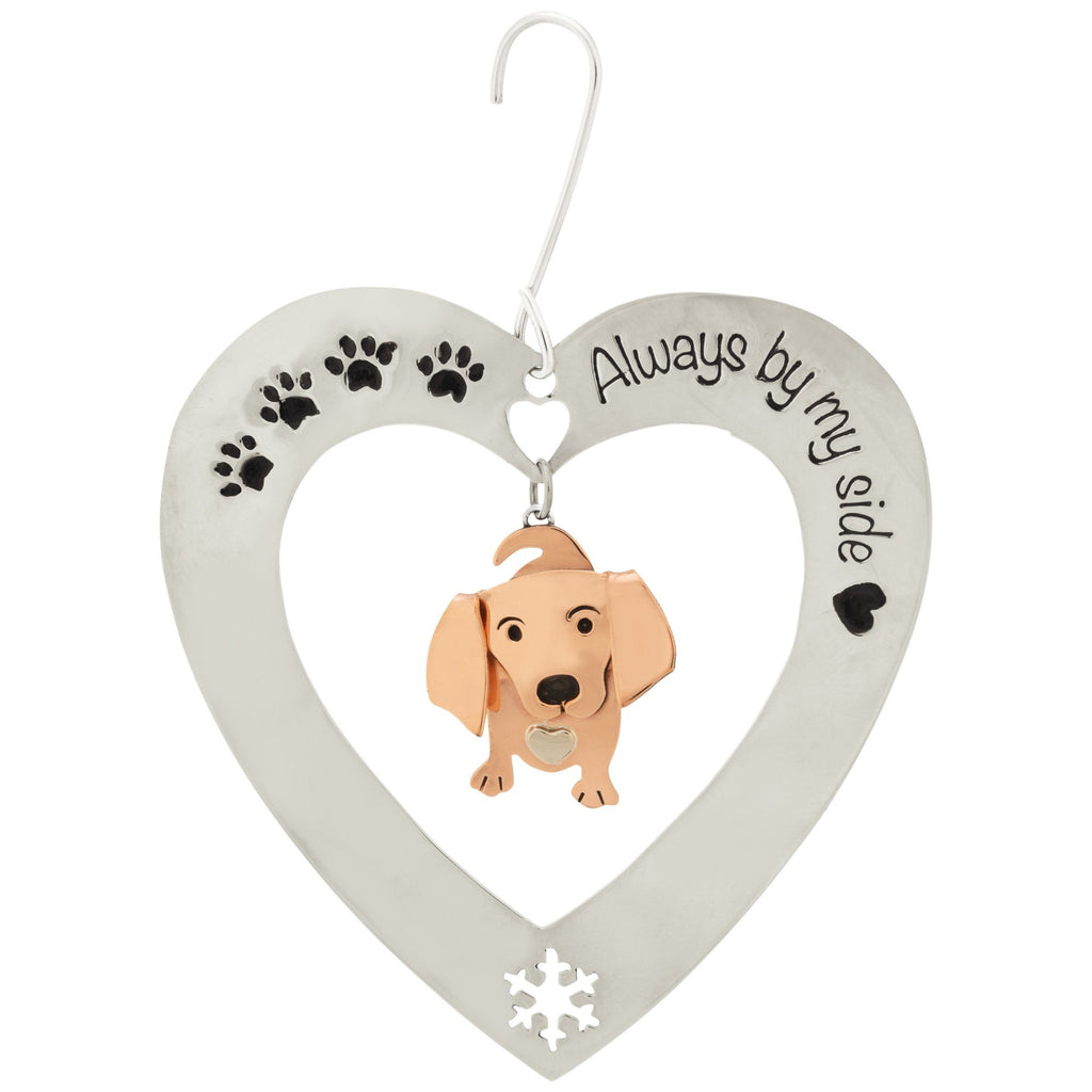 Always By My Side Dachsund Ornament