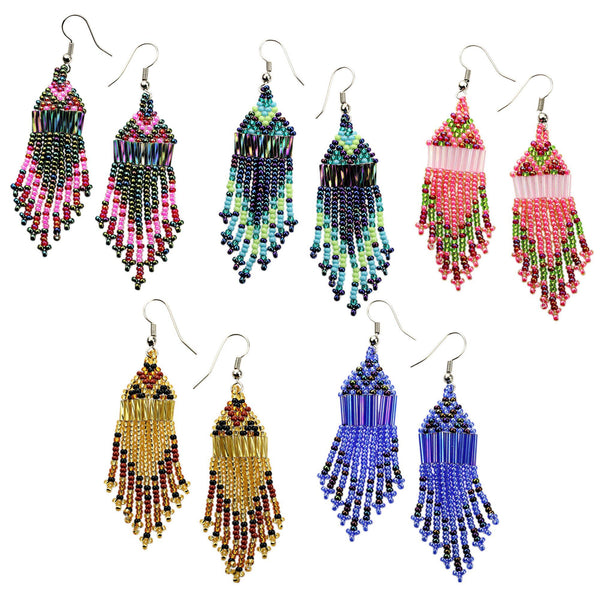 Amahle Beaded Chandelier Earrings