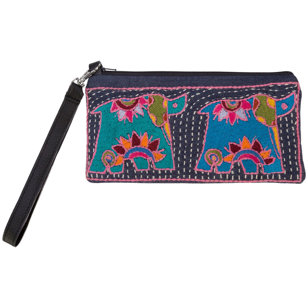 Amarasti Embroidered Wristlet