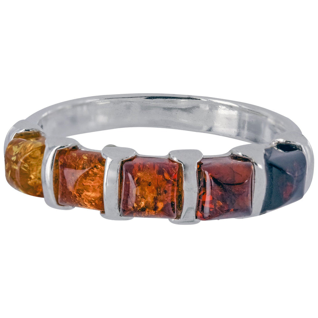 Amber Ombre & Sterling Ring
