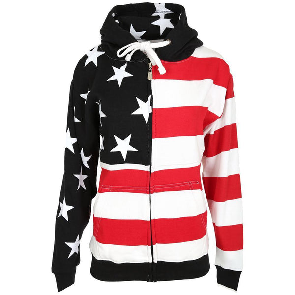 American Flag Zip Hooded Sweatshirt
