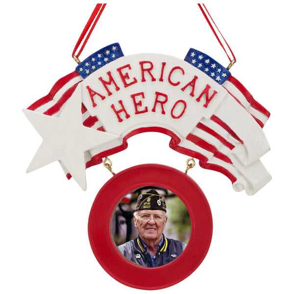 American Hero Photo Frame Ornament