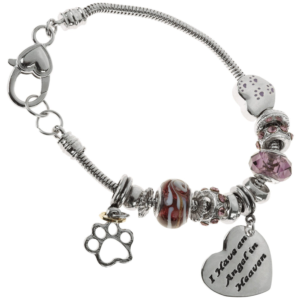 Angel In Heaven Paw Print Bracelet