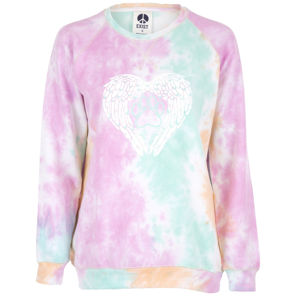 Angel Paw Tie Dye Sweatshirt