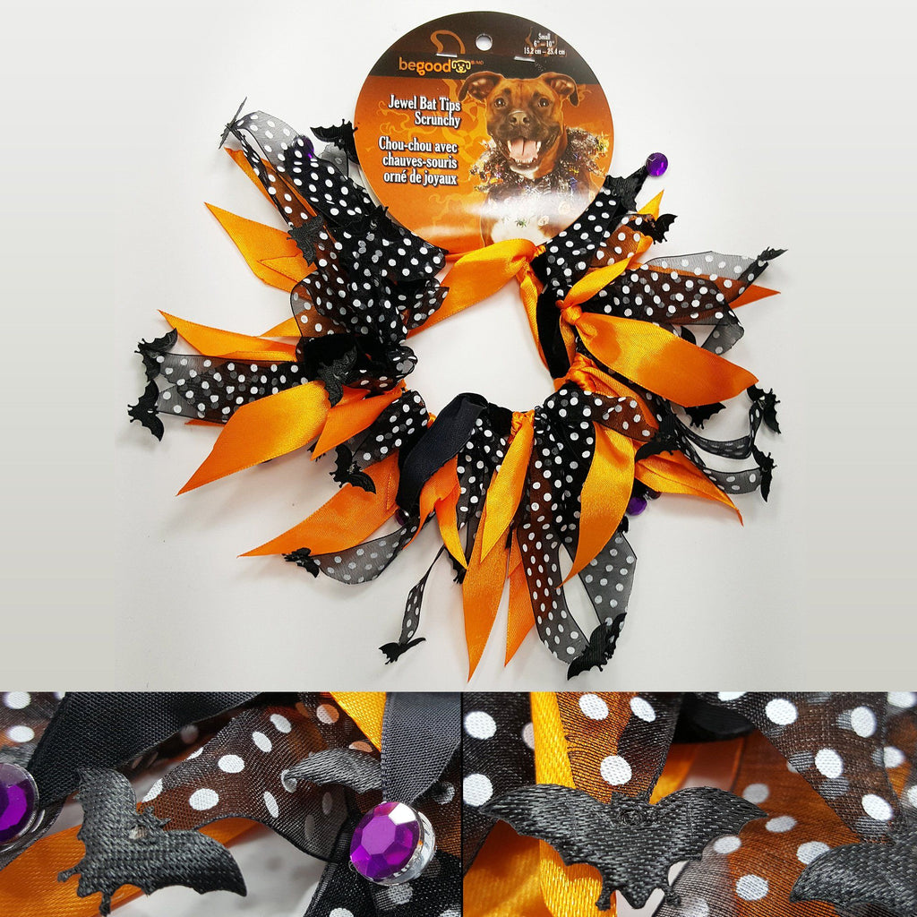 Aria® Halloween Bat & Jewel Pet Scrunchie