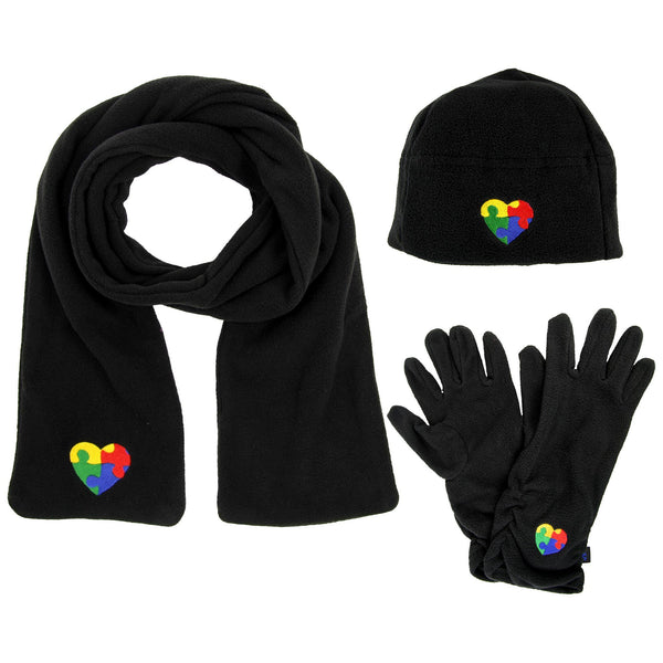 Autism Awareness Plush Microfleece Accessories