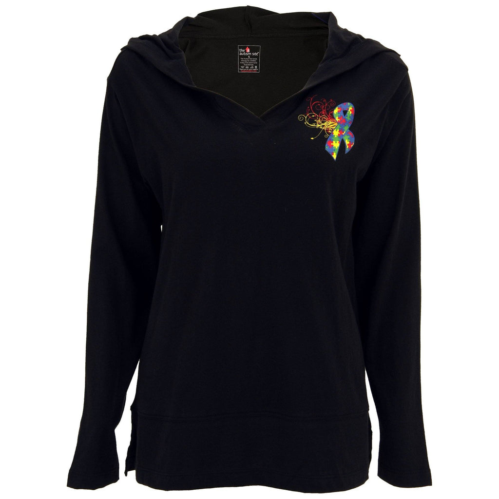 Autism Awareness Ribbon Lightweight Hooded Tunic