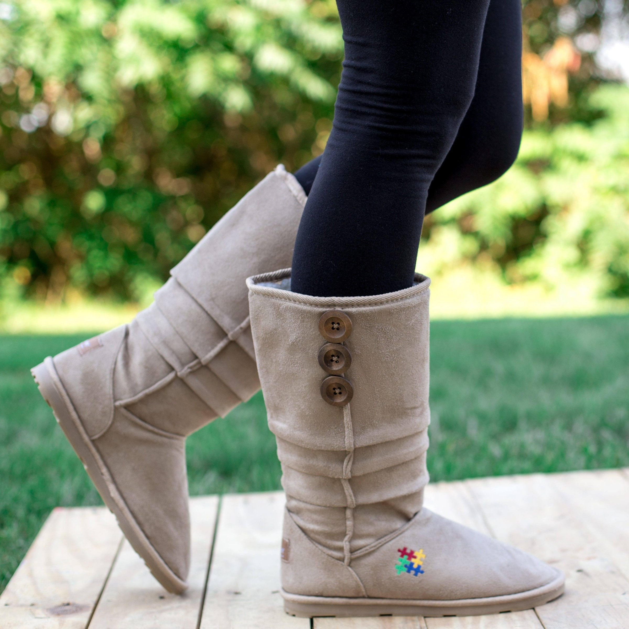 On Sale - Autism Awareness Slouch Boots